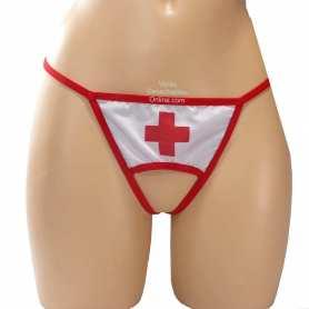Tanga Enfermera Con Abertura Delantera