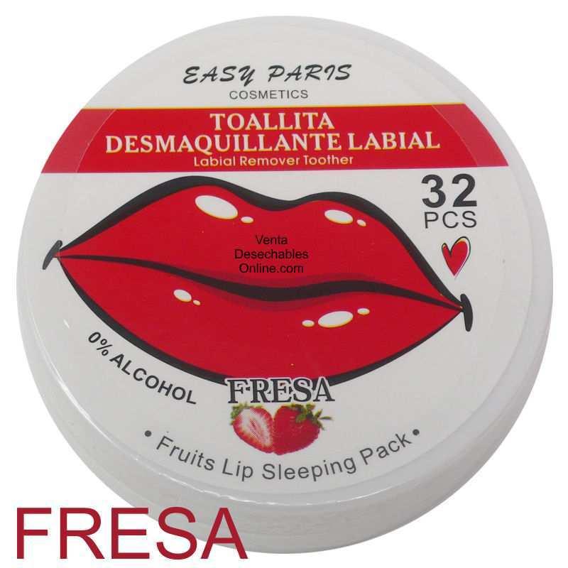 Toallitas Desmaquillantes Fresa Para Labios - Easy Paris
