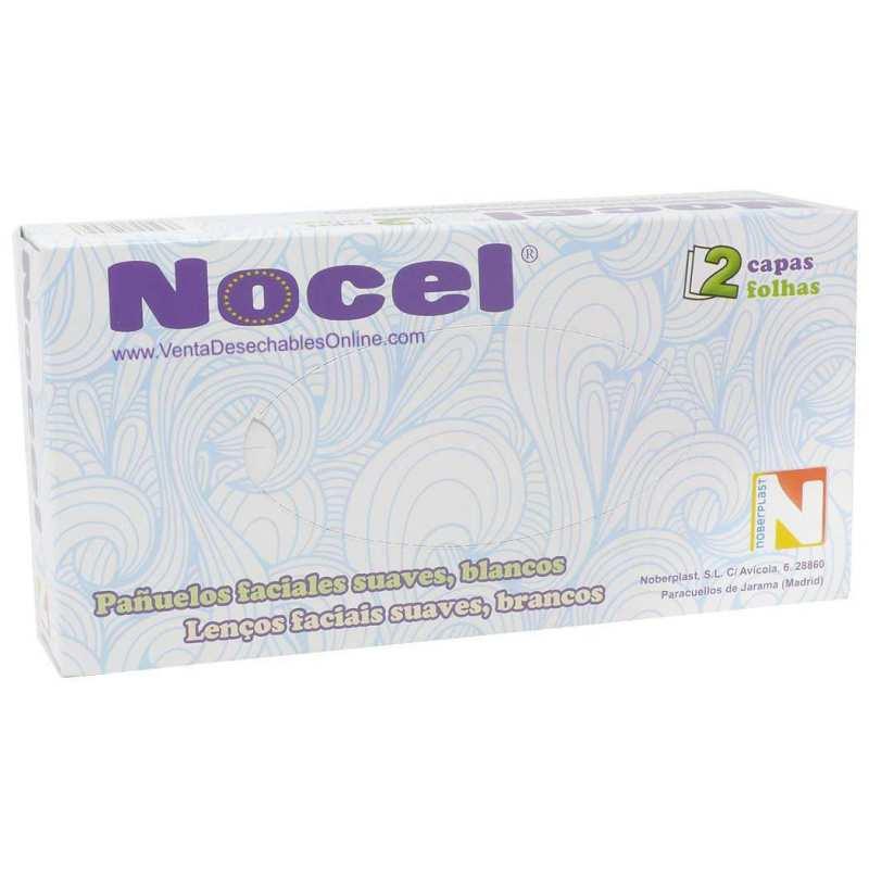 80 Pañuelos Desechables Suaves 20 x 20 cm - Nocel