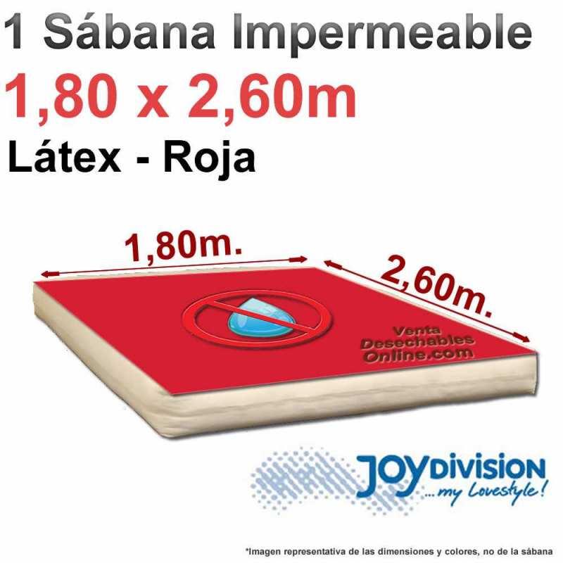 Sábana impermeable Látex 1,80 x 2,60 m - Roja - Joy Division