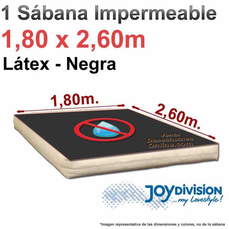 Sábana impermeable Látex 1,80 x 2,60 m - Negra - Joy Division