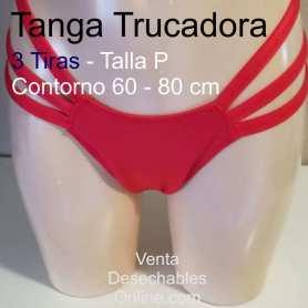 Tanga Trucadora 3 Tiras De Licra Rojo Talla P