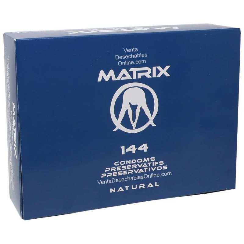 144 Preservativos Matrix 196x54 Natural Caja