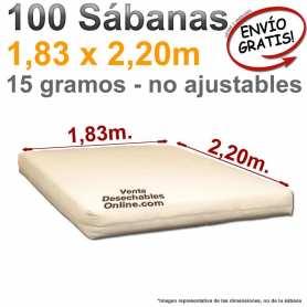 100 Sábanas Desechables 1,83x2,20m
