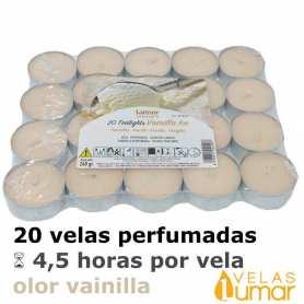 20 velas té Aromáticas Vainilla 11g
