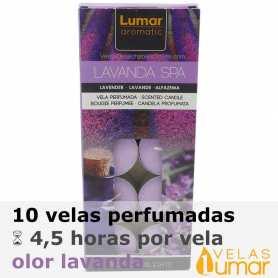 10 velas té Aromáticas Lavanda 11g - Lumar