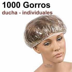 1000 Gorros Ducha Transparentes Individuales