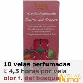 10 velas té Frutas del Bosque 11g - Lumar