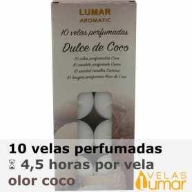 10 velas té Aromáticas Coco 11g - Lumar