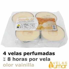 4 Velas Maxi Aromáticas Vainilla 40g - Lumar