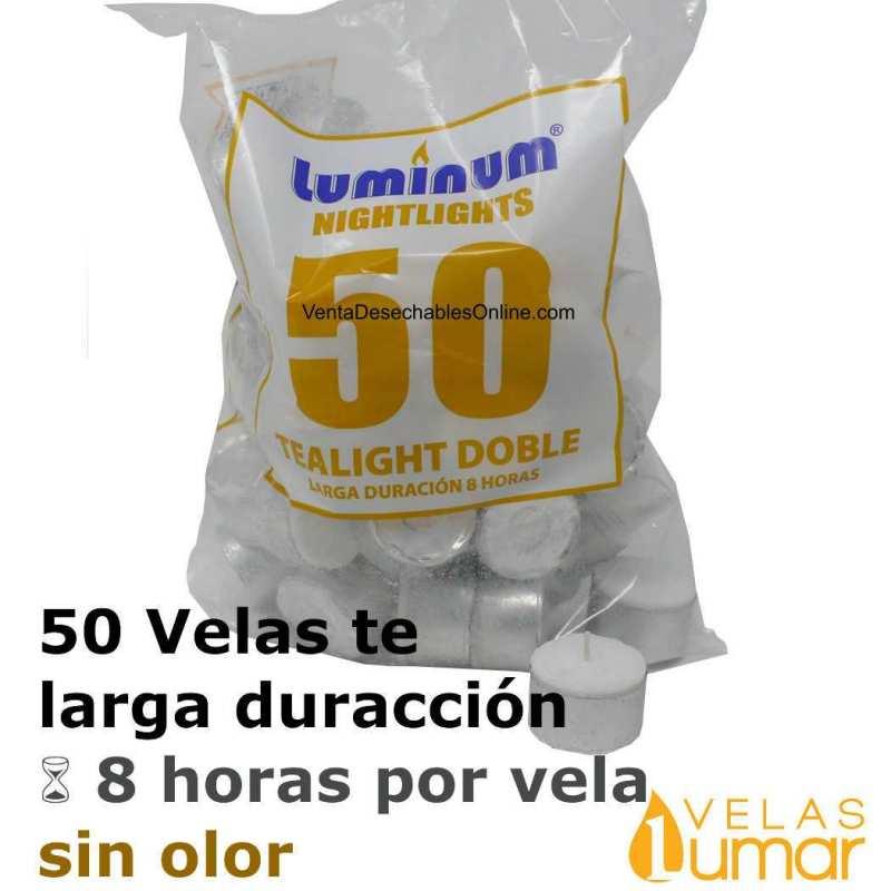 50 velas té Larga Duración 20g - Lumar