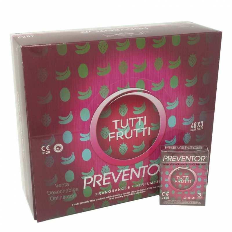 144 Preservativos preventor Tutti Frutti