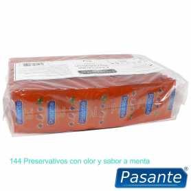 144 Preservativos Pasante Menta 190x53 mm