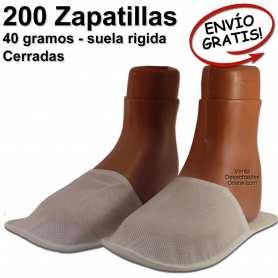 200 Zapatillas Desechables 28 cm (44) Cerradas - Suela 3 mm