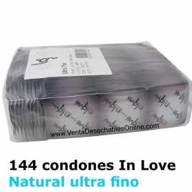 144 Condones In love 190x54 Naturales Ultra Finos
