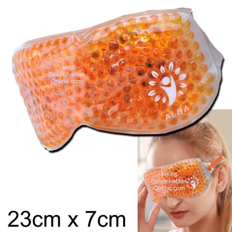 Antifaz De Perlas de Gel Naranja - Alba