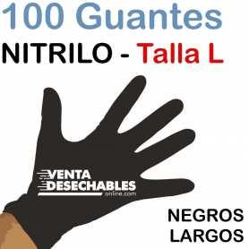 Guantes Nitrilo Talla L Negros