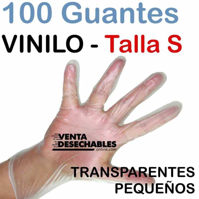 Guantes Vinilo Talla S - Sin polvo