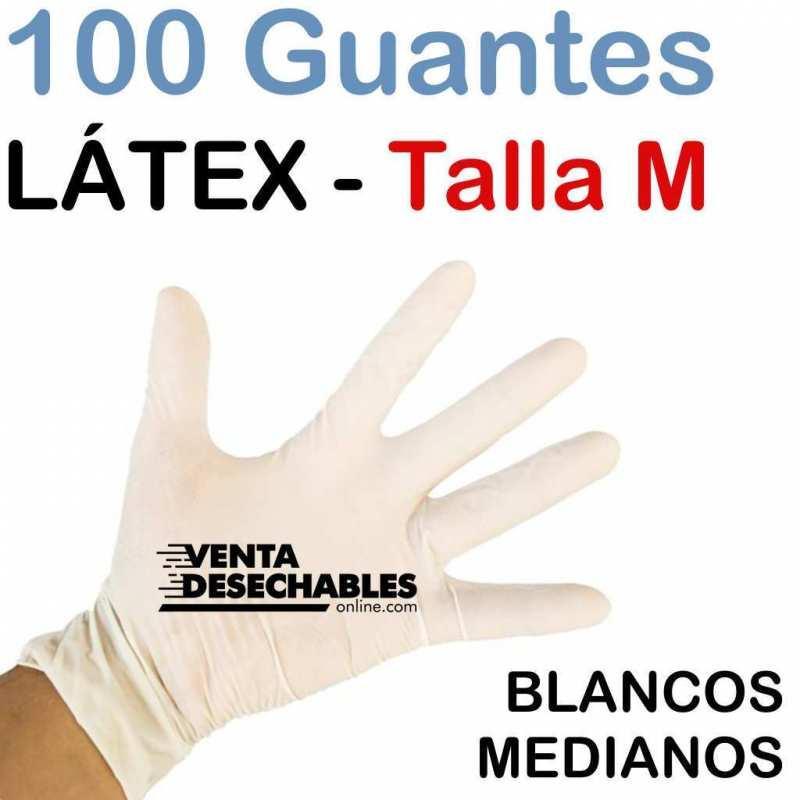 Guantes Látex Talla M - Sin Polvo
