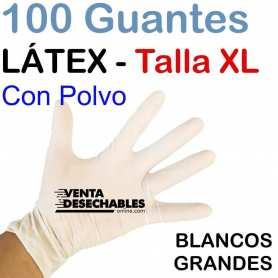 Guantes Látex XL con Polvo