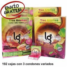 Condones sabores Maquinas Expendores Vending - 192 Cajas