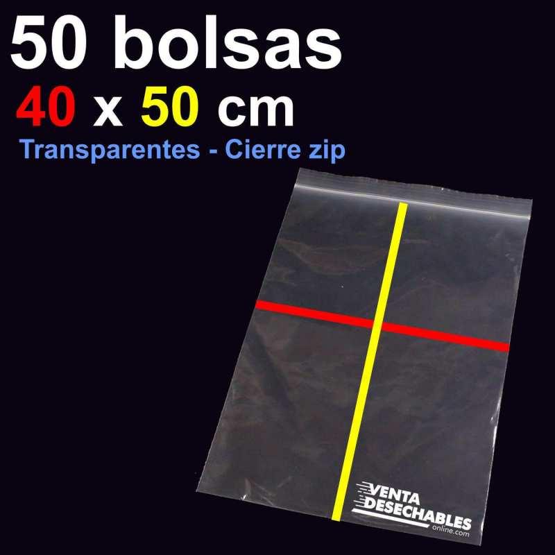 50 Bolsas PE 40x50 cm Cierre Zip