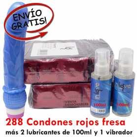 Preservativos rojos fresa en oferta