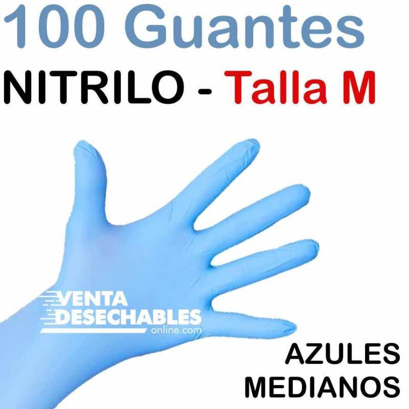 100 Guantes Nitrilo Talla mediana