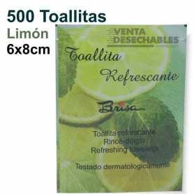 500 Toallitas Limón Brisa 6x8cm