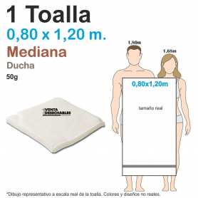 1 Toalla Desechable 50g 0,80 x 1,20 m - Medianas