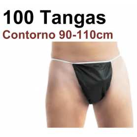 100 Tangas Desechables Hombre Negros 90/110