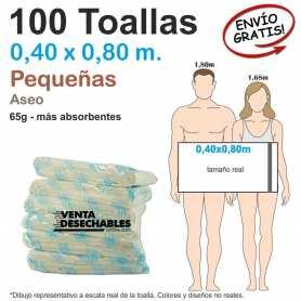 100 Toallas Desechables Spunlace