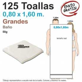 Caja 125 Toallas Desechables Grandes - Baño