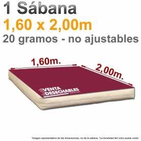 1 Sábana Desechable 1,60x2,00m. Burdeos - Genérica