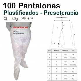 Pantalones Plastificados Para Presoterapia Blancos TST PP
