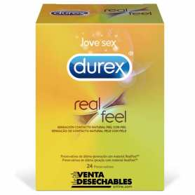 Condones Durex Real Feel 24