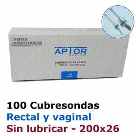 100 Cubresondas Rectal Vaginal 200x26
