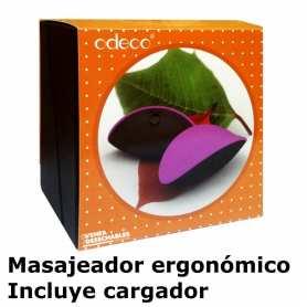 Masajeador Ergonómico Forma Hoja Rosa - Odeco
