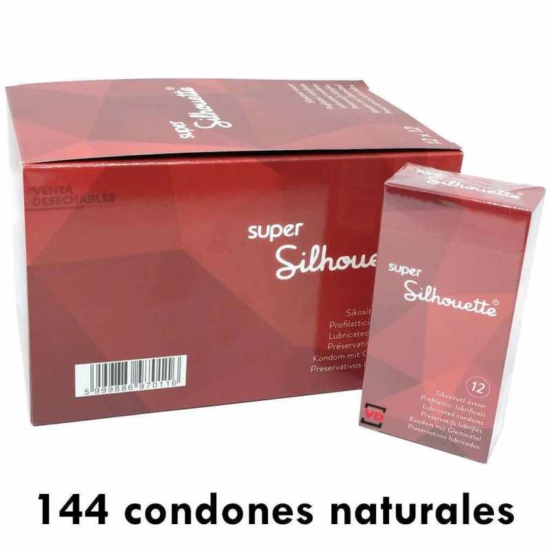 144 Preservativos (12x12) Super Silhouette Natural 200x53m