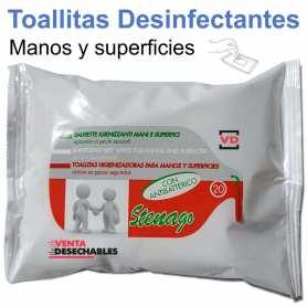 20 Toallitas Desinfectantes Steneago