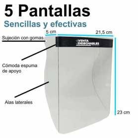 5 Pantallas Protectoras Antisalpicaduras