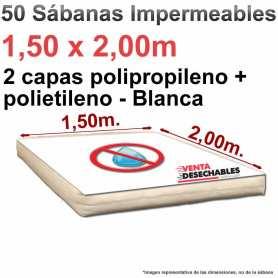 Sábanas Impermeables 1,50x2,00m - blancas