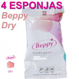 4 Esponjas Vaginales Lubricadas Beppy Dry