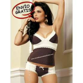 Top & Shorts color chocolate. Talla S/M.