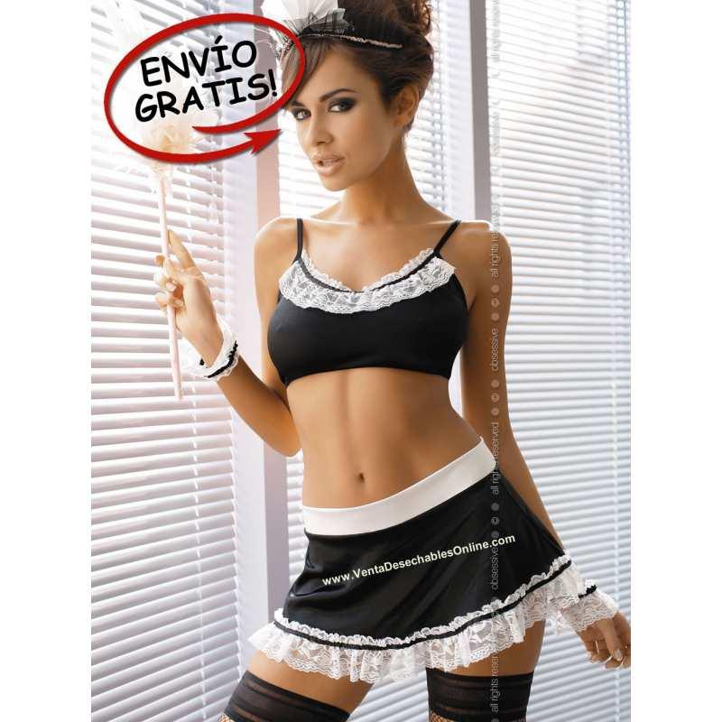 Disfraz. Maid Black & White. Talla S/M.