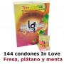 Condones Vending Cajas 3 uds (144) In love Fresa, Plátano y Menta