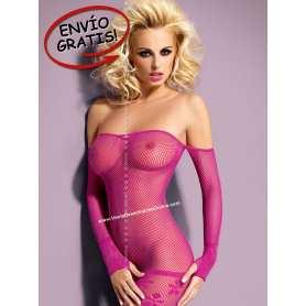 Minivestido. Dress D600 Pink. Talla S/M.