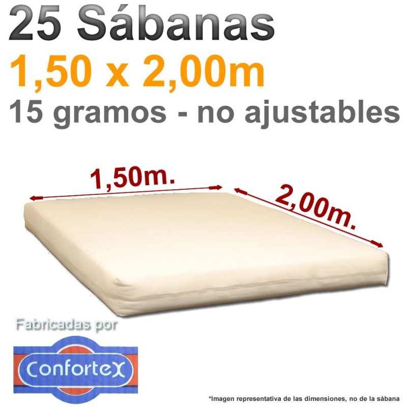 25 Sábanas Confotex 1,50x2,00m.