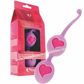 2 Bolas Chinas Corazón Púrpura Feelztoys
