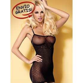 Minivestido Negro. Dress D202. Talla S/M.